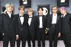 Tuxedos worn by BTS at Grammy Awards to be displayed at Grammy Museum from Wed.