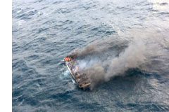 Moon orders authorities to use all possible means to rescue missing crewmen from ship that caught fire