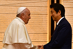 Pope Francis calls for dialogue to solve conflicts between countries during Japan trip
