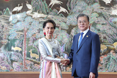 Aung San Suu Kyi asks for Myanmar boy band Project K to train in S. Korea