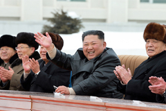 N. Korean leader Kim Jong-un celebrates completion of Township of Samjiyon County