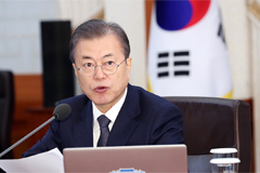 Seasonal system required to tackle fine dust pollution: President Moon
