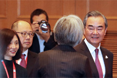 Chinese FM Wang Yi touches down in Seoul for first time in five years