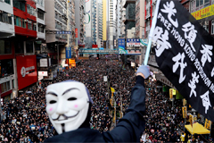 Large protest seen in Hong Kong on Sunday since local elections in November