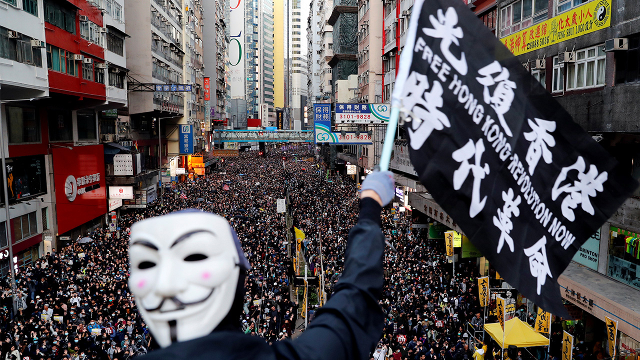 Massive rally marks half-year milestone of Hong Kong's pro-democracy protests