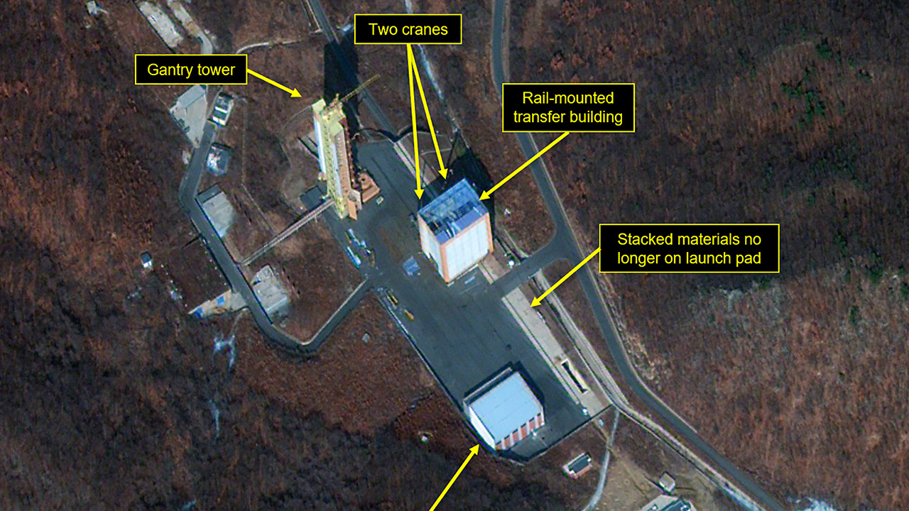 Satellite imagery suggests N. Korea ̔s rocket engine test at Dongchangri