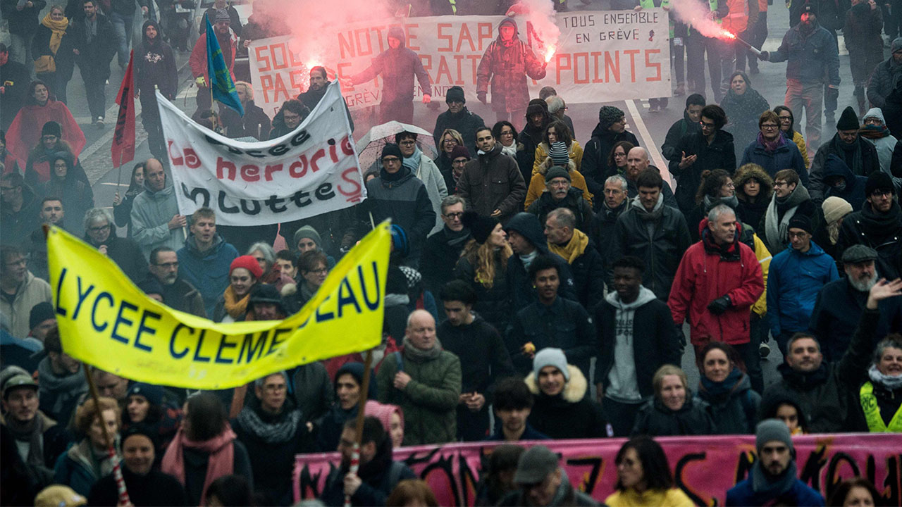 Protestors take to streets in France against pension reform plans