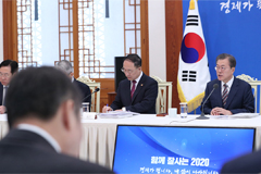 President Moon says economic policies must bear fruit next year