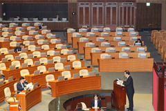S. Korea's main opposition party begins filibuster in bid to block ruling party-led election law revision