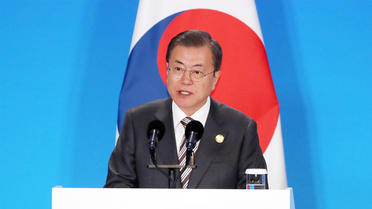 Moon propose regional community, building upon free trade and peace