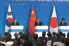 S. Korea, Japan, China reaffirm support for N. Korea-U.S. dialogue