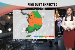 Rain in Jeju on Christmas Day, 'bad' levels of fine dust in most places