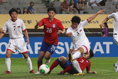 N. Korean women's soccer team