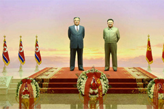 Kim Jong-un pays respects to late father, grandfather in his first public outing in 2020