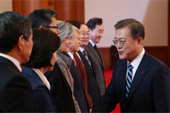 Moon stresses importance of continuing talks with N. Korea despite stalled denuclearization talks