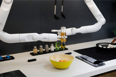 Robots start delivery, cooking