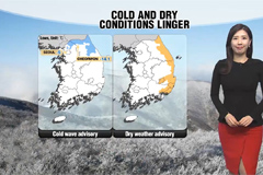 Frigid and dry air lingers ove