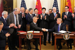 Trump signs 'Phase One' trade