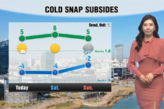 Cold snap eases, mild weekend