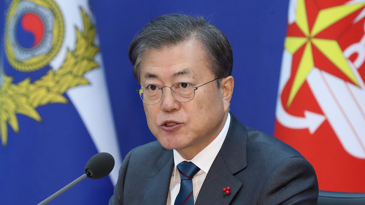 President Moon emphasizes strong defense to achieve peace on Korean Peninsula