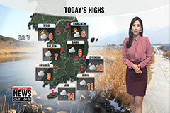 Temperatures stay mild with winter rain down south