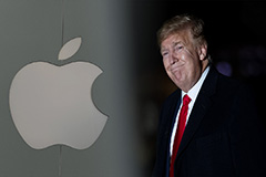 Trump says he waived tariffs for Apple to level the field with Samsung