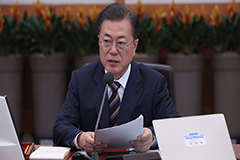 President Moon calls for emergency measures to minimize economic fallout from COVID-19 outbreak