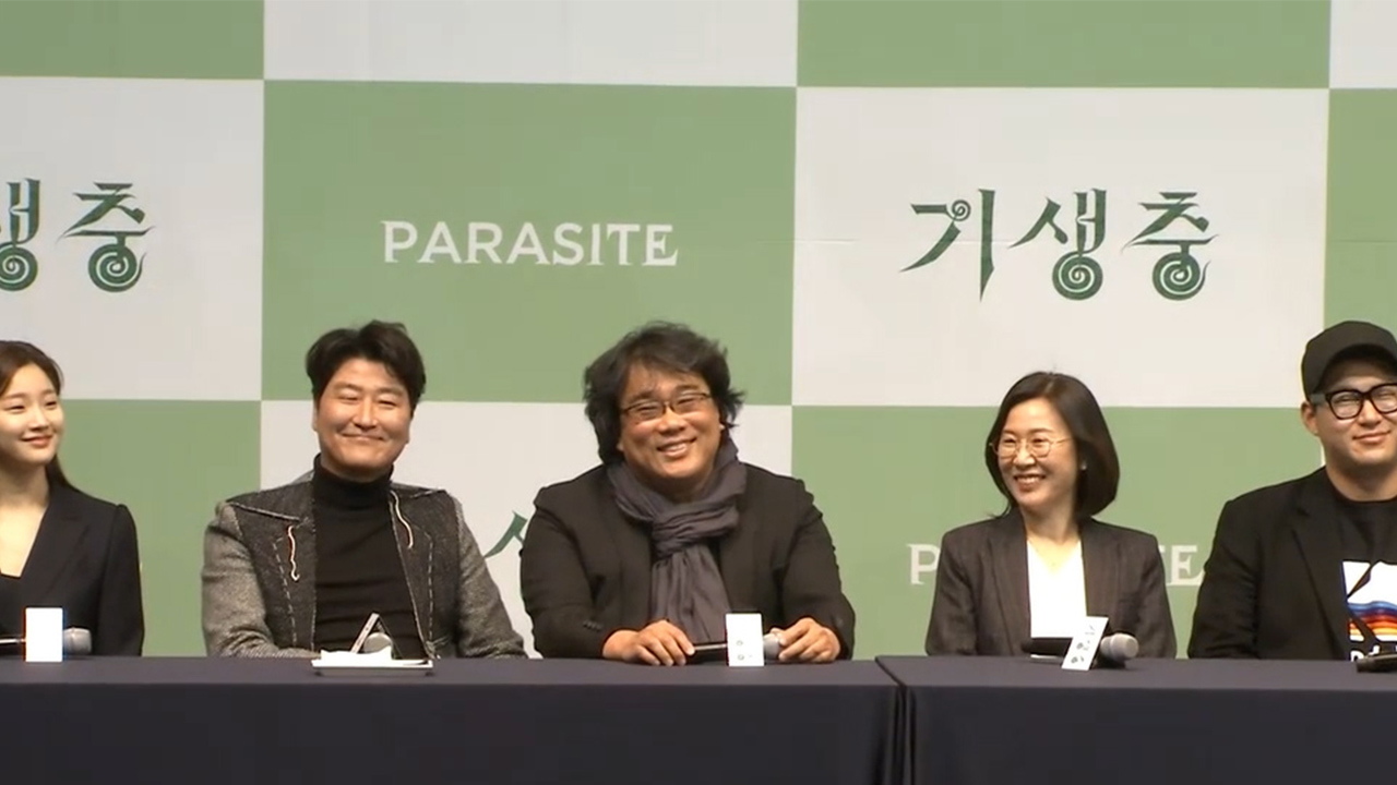 President Moon holds luncheon with 'Parasite' director, actors at Blue House