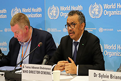 COVID-19 not yet 'pandemic': WHO chief