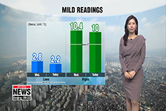 Mild readings with decent air quality