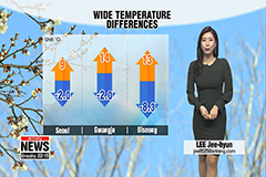Freezing morning, mild afternoon and bright skies