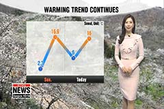 Warm temperatures prevail, rain in store from this afternoon