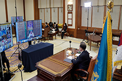 President Moon says S. Korea willing to share COVID-19 response model with world