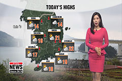 Cooler than seasonal norms, spotty rain in inland regions