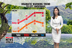 Mainly sunny, warm and dry... warning trend gets underway