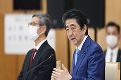 Abe reiterates call for uncond