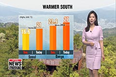 More clouds than sun for Monday, early summer weather in south
