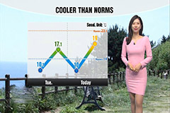 Stable weather but cooler temperatures than norms