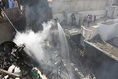 Pakistani airliner crashes in Karachi, killing at least 76 people