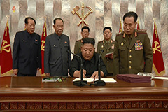 N. Korea's Kim Jong-un vows to