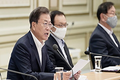 President Moon calls for parliamentary cooperation to pass third extra budget bill swiftly
