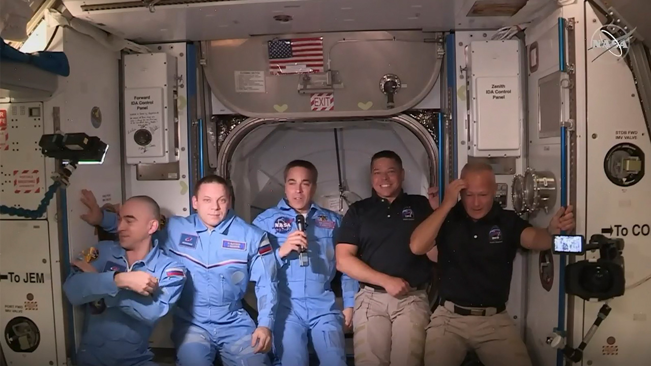SpaceX's new Crew Dragon capsule successfully docks with ISS