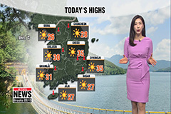 Season's first heat wave alerts in Daegu, sunny skies during the day