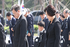 President Moon vows to maintain peace and strengthen national security in Korea