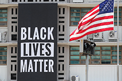 U.S. Embassy in Seoul hangs 'Black Lives Matter' banner on front of building