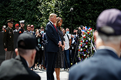 Trump attends Korean War memorial ceremony to honor 70th anniversary of start of conflict