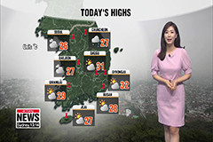 Rise in highs, lots of clouds