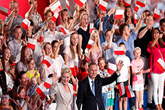 Exit polls show Polish president Duda to face second round of voting, falling short of 50% to win