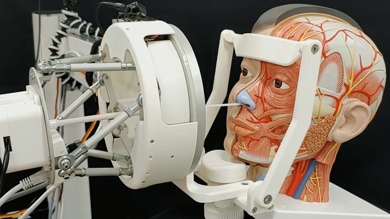 S. Korean researchers develop robots to remotely collect samples for COVID-19 tests