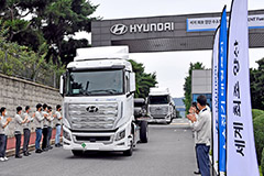 Hyundai first to export hydrogen-powered trucks with shipment to Switzerland